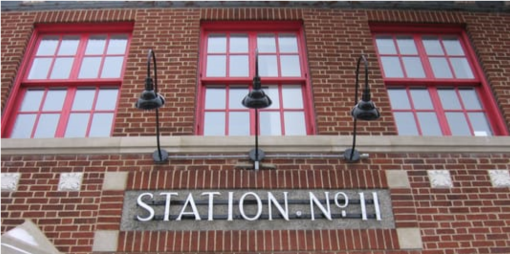Fire Station No. 11 sign at 424 Parkdale Avenue in Ottawa
